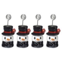 Precious Moments® Holiday Snowman Place Holder (Set of 4)