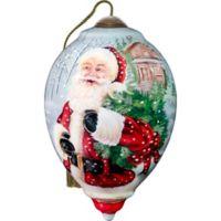 Precious Moments® Santa's Holiday Wreath Christmas Ornament