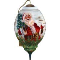 Precious Moments® Winter Birch Santa Christmas Ornament