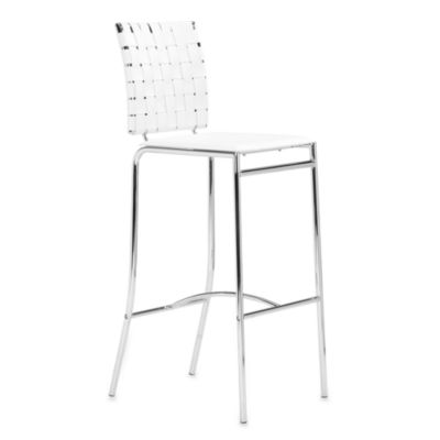 Zuo® Modern Criss Cross Bar Chairs In White (Set Of 2)