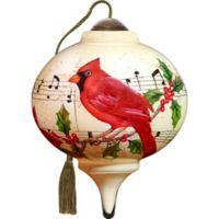 Precious Moments® Ne'Qwa Caroling Cardinal 2.48-Inch Glass Ornament