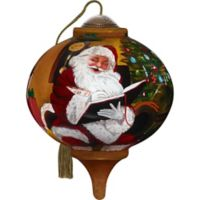 Precious Moments® Ne'Qwa Santa's Notes 2.48-Inch Glass Ornament
