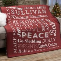 Holiday Traditions Personalized Blanket