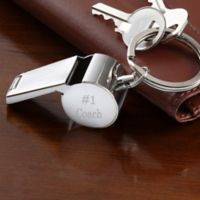 Personalized Stainless Steel Whistle Key Ring