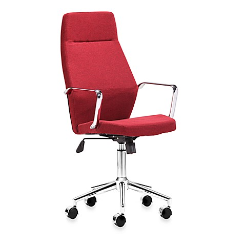 Zuo Modern Holt High Back Office Chair in Red