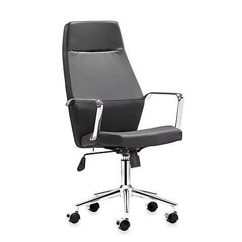 Zuo Modern Holt High Back Office Chair in Black