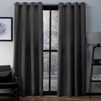 Exclusive Home Virenze 96-Inch Grommet Top Window Curtain Panel Pair in Black Pearl
