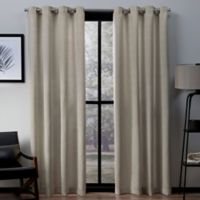 Exclusive Home Virenze 108-Inch Grommet Window Curtain Panel Pair in Taupe
