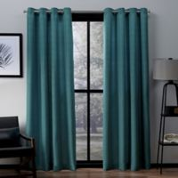 Exclusive Home Firenze 96-Inch Grommet Top Window Curtain Panel Pair in Teal