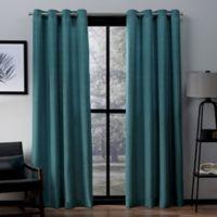 Exclusive Home Virenze 96-Inch Grommet Top Window Curtain Panel Pair in Teal