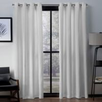 Exclusive Home Firenze 96-Inch Grommet Top Window Curtain Panel Pair in White