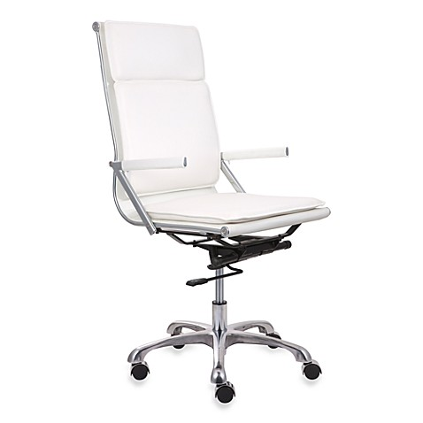 Zuo® Modern Lider Plus High Back Office Chair in White