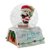 Precious Moments® Holiday Santa Claus Snow Globe
