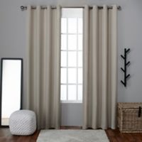 Exclusive Home Loha 96-Inch Grommet Top Window Curtain Panel Pair in Natural