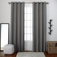 Exclusive Home Loha 96-Inch Grommet Top Window Curtain Panel Pair in Black Pearl