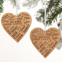 Close To Her Heart Personalized 2-Sided Red Wood Christmas Ornament