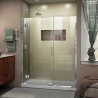 DreamLine® Unidoor-X 60-60.5-Inch x 72-Inch Frameless Hinged Shower Door in Chrome