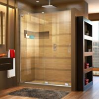 DreamLine® Mirage-X 44-48-Inch x 72-Inch Left Frameless Sliding Shower Door in Chrome