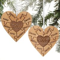 Together We Make A Family Personalized 2-Sided Ornament in Wood
