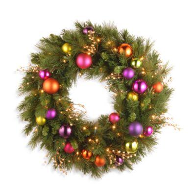 pre lit christmas wreath led lights