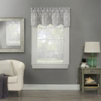 Compass Embroidered Window Valance in Grey