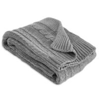 Burt's Bees Baby® Organic Cotton Cable Knit Blanket in Heather Grey