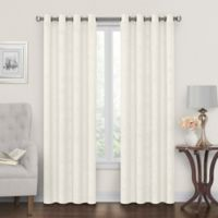 Tucker 108-Inch Grommet Window Curtain Panel in Beige