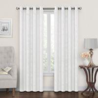 Tucker 108-Inch Grommet Window Curtain Panel in White