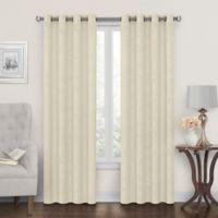 Tucker 108-Inch Grommet Window Curtain Panel in Linen