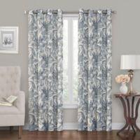 Tucker Printed 108-Inch Grommet Window Curtain Panel in Blue