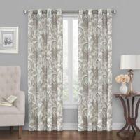Tucker Printed 63-Inch Grommet Window Curtain Panel in Neutral