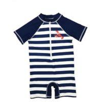 Floatimini® Size 9M Striped Scuba Suit in Navy