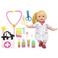 New Adventures Lil' Tots 14-Inch Doll Doctor Set in White