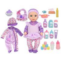 New Adventures Little Darlings Baby Deluxe Set in Purple