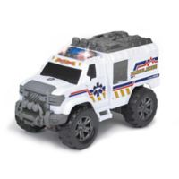Dickie Toys Light & Sounds Motorized Ambulance Vehicle in White