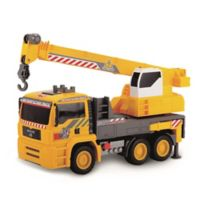 Dickie Toys Air Pump Mobile Crane Truck in Yellow