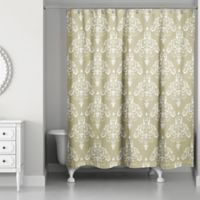 Designs Direct Damask Shower Curtain in Gold