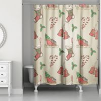 Designs Direct Vintage Christmas Shower Curtain