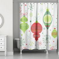 Designs Direct Retro Ornaments 71-Inch x 74-Inch Shower Curtain