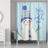 "Designs Direct ""Baby It's Cold Outside"" Snowman Shower Curtain"