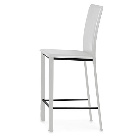 Zuo Modern Arcane Bar Chairs in White (Set of 2)