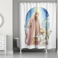 Watercolor Nativity 71-Inch x 74-Inch Shower Curtain