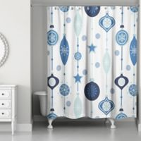 Ornament 71-Inch x 74-Inch Shower Curtain