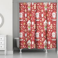 Mr. and Mrs. Claus 71-Inch x 74-Inch Shower Curtain