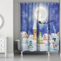 Snowy Winter Scene 71-Inch x 74-Inch Shower Curtain
