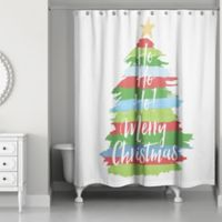 Painty Christmas Tree 71-Inch x 74-Inch Shower Curtain