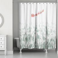 Winter Forest Scene 71-Inch x 74-Inch Shower Curtain