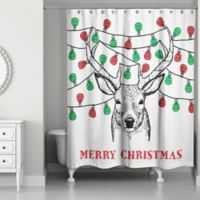 Christmas Deer and Lights 71-Inch x 74-Inch Shower Curtain