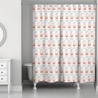Designs Direct Santa Bathing Suit Shower Curtain