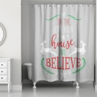Designs Direct We Believe Christmas Shower Curtain